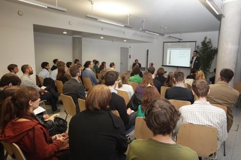Zum Auftakt der Veranstaltung wurde die Bedeutung von Grünen Jobs für Berlin diskuitert.