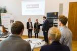 Die ALBA Group war eines der sechs teilnehmenden Unternehmen, die sich beim Job-Speed-Dating für Energie- und Klimaschutzberufe präsentierten. Foto: ©Berliner Energieagentur, Dietmar Gust