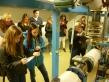 Beim Girls' Day von ClubE haben die Mädchen die Wärmezentrale des Bürogebäudes der Galeries Lafayette im Bezirk Mitte besucht und gelernt, wie viel Energie ein Einkaufszentrum benötigt. Foto: Berliner Energieagentur