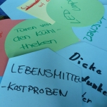 Die Mädchen hatten vielen tolle Ideen für das energiesparende und klimafreundliches Einkaufszentrum. Foto: Berliner Energieagentur