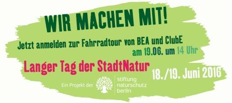Stadtnatur Fahrradrallye Berliner Energieagentur ClubE Langer Tag der Stadtnatur